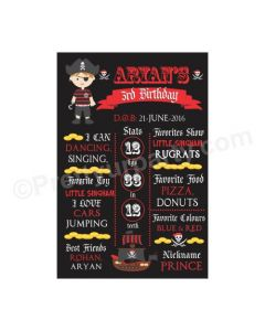 Pirate Theme Chalkboard Poster