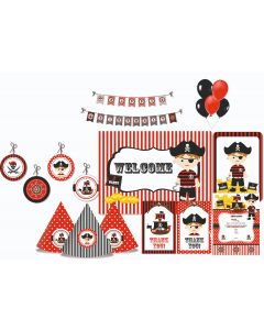 Pirate Party Decorations - 90 Pieces