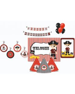 Pirate Party Decorations Package - 70 pieces