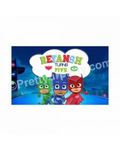 PJ Masks Theme Backdrop