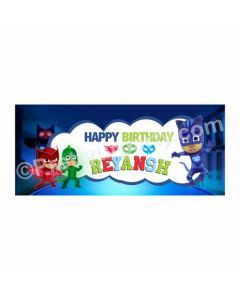 Personalized PJ Masks Theme Banner 30in