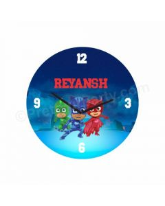 Personalized PJ Masks Clock - Round