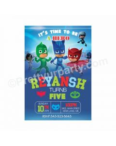 PJ Masks Theme Invitations