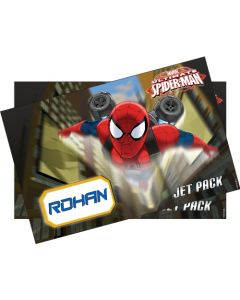 Spiderman personalised placemat