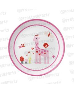 Personalised Girly Giraffe Plate