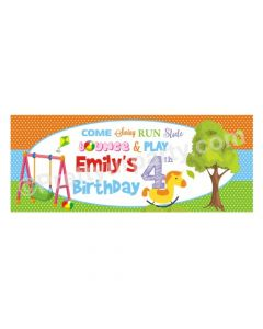 Personalized Playground Theme Banner 30in