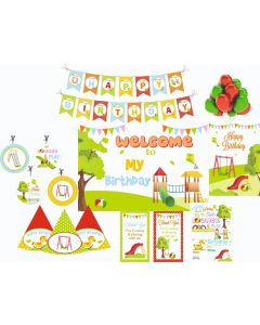 Play Ground Party Decorations - 90 Pieces