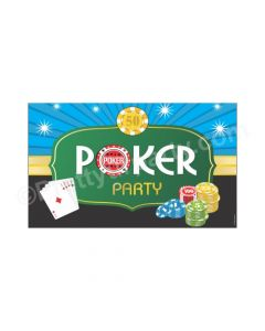 Poker Party Theme Backdrop