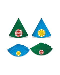 poker theme hats