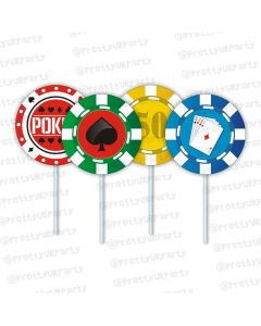 poker theme cupcake / food toppers