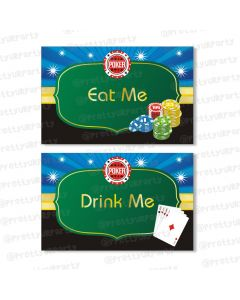 poker theme food labels / buffet table cards