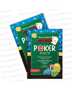 poker theme invitations