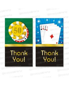 poker theme thankyou cards