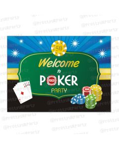poker theme entrance banner / door sign