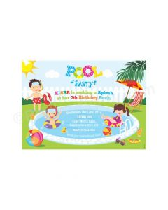Pool Party E-Invitations