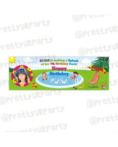Personalized pool party banner