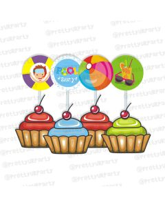 pool party cupcake / food toppers