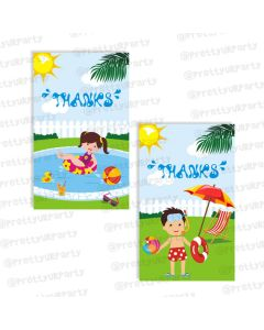 pool party thankyou cards