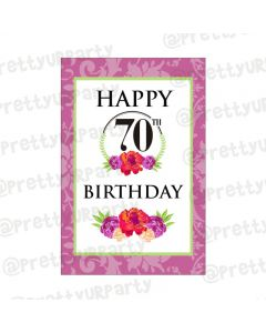 70th Birthday Poster 01