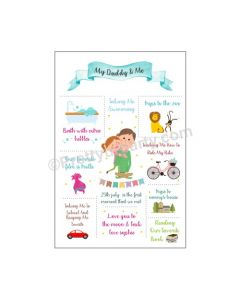Fathers Day Personalized Poster