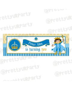 Personalized Prince Birthday Banner 36in