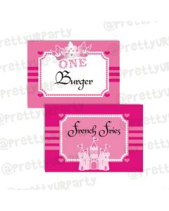 Princess 1st Food Labels / Buffet Table Cards