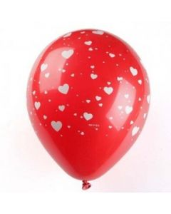 printed latex balloons - hearts
