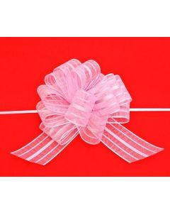 organza pull bow - large