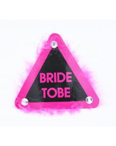 Bride To Be Badges With Furr