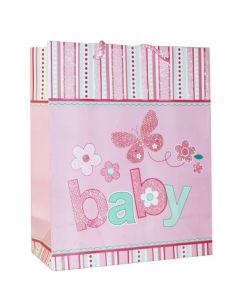 Pink With Butterfly Baby Shower Bag