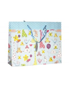 blue animal gift bag