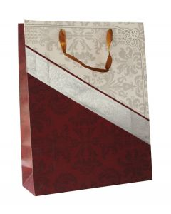 Marron Silver & White Large Bag