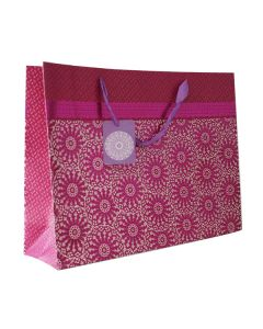Magenta Floral Extra Large Bag