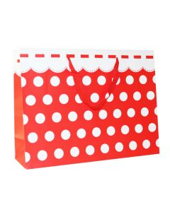 Red & White Polka Dots Extra Large Bag