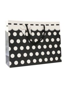 Black & White Polka Dots Large Bag