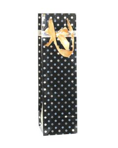 Black Polka Dots Wine Bags