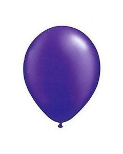 purple metallic latex balloon