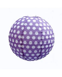 Purple Polka Dot Round Paper lamps 12""