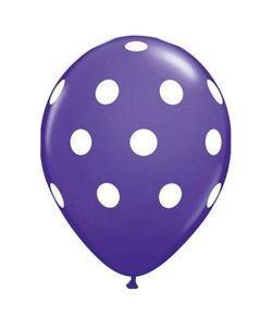 big polka dot balloons- purple