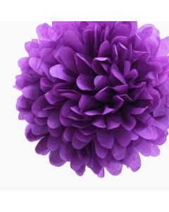 Purple Tissue Paper Pom Poms