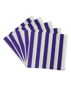 Purple Stripes Paper Napkins