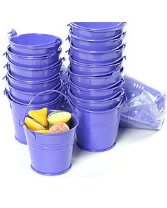 purple small bucket favors