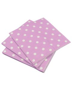 Purple polka dots napkins