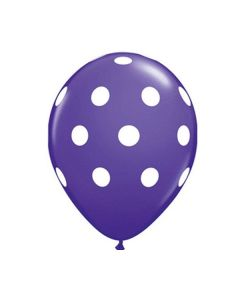 Polka Dots Latex Balloons - Purple