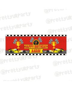 Personalized Race Car Party Banner