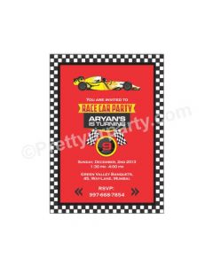 Race Car Party E-Invitations