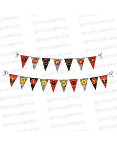 race car party theme bunting