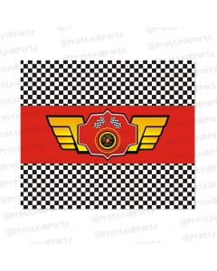 race car party chocolate wrappers