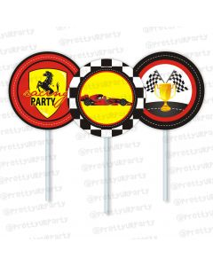 race car party theme cupcake / food toppers