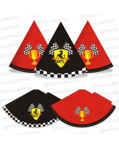 race car party theme hats